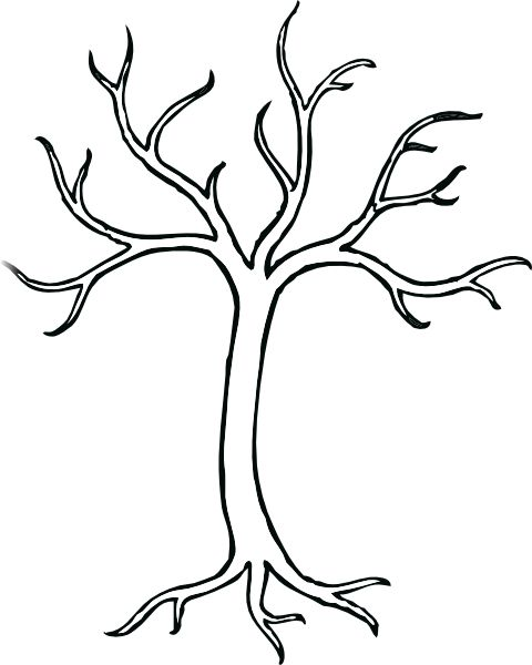 christmas tree coloring pages on coloring bare tree clip art vector clip art online royalty free - Birch Tree Branches Coloring Pages