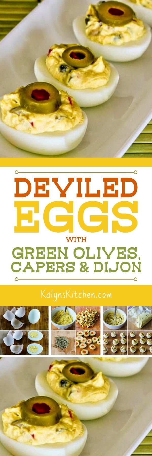 Deviled Eggs with Green Olives, Capers, and Dijon