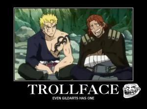 "8 Funny Fairy Tail Memes Anime Fans Will Love: ""Troll Face"" Fairy Tail Meme"