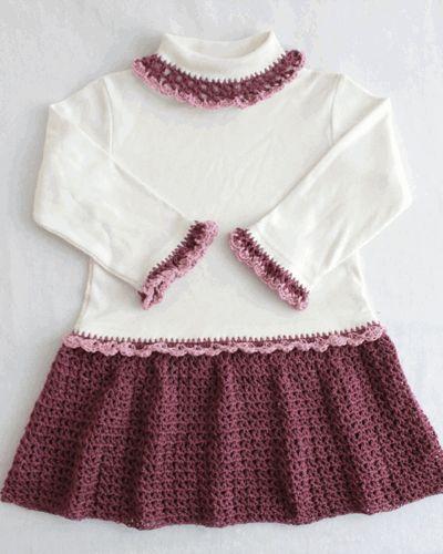 Maggie's Crochet · Petite Shells T-Shirt Dress Crochet Pattern