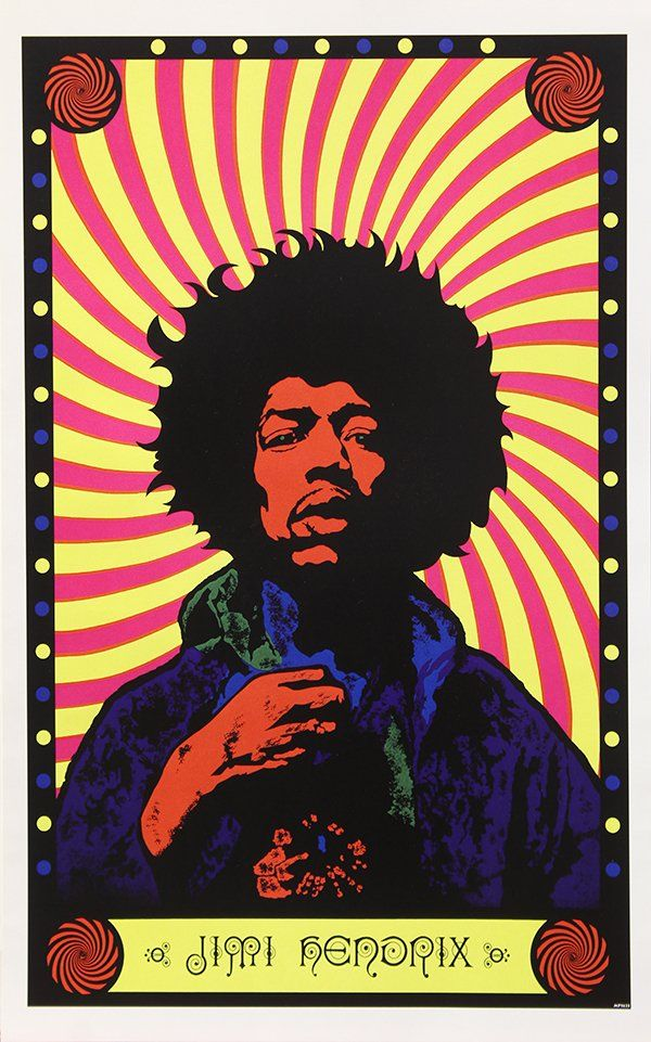 G 252 Nther Kieser Jimi Hendrix Rock Poster From Quot Are You