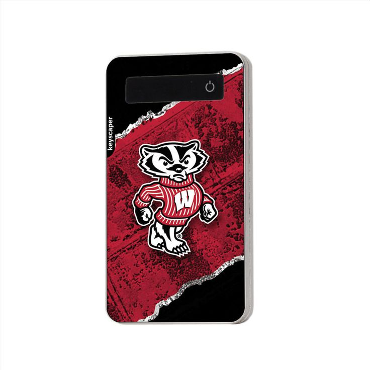 Wisconsin Badgers 4000mAh Diagonal Stripe Portable USB Charger