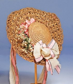 straw doll bonnet