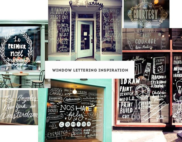 Window Lettering Inspiration by sa_su (small caps), via Flickr