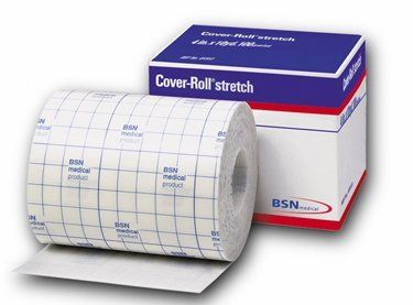 "BSN-Jobst Cover-Roll Stretch Adhesive Non-Woven Bandage, 6 x 2 yds"""" by Jobst. $8.54. BSN-Jobst Cover-Roll Stretch Adhesive Non-Woven Bandages are made of a soft, stretchable non-woven polyester material that adapts well to body contours. Even in the presence of moisture, the polyacrylate adhesive holds dressing safety and reliably in place. Cover-Roll's back liner removes easily, allowing easy and secure application. Radio-transparent eliminating the need to remove for x-ra..."