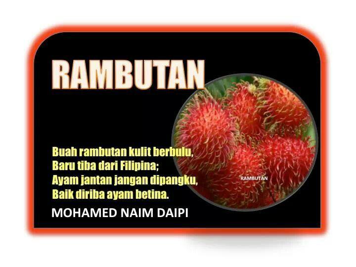 Pantun Quotes RambutanMohd Naim Daipi Koleksi PuisiPantun Pinterest 158