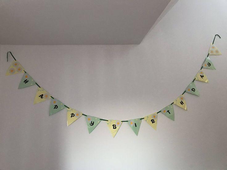 Happy birthday bunting, birthday decor, birthday essentials, happy birthday, birthday banner, handmade birthdays, birthday girl by Karenskreations86 on Etsy