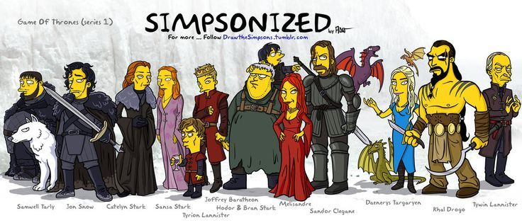 For the Simpsonized project here is my (first) series about Game Of Thrones. More new characters soon