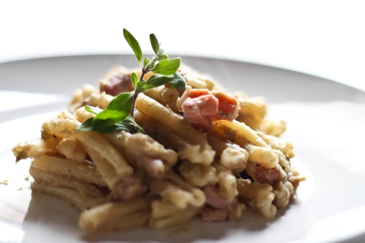 Italian Pasta with eggplants cream and speck... from my foodblog! ;-)