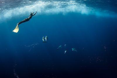 Underwater Photography with Freedivers Alex & Alex - Red Bull Illume  © Fisheye (Alex Roubaud / Alex Voyer)