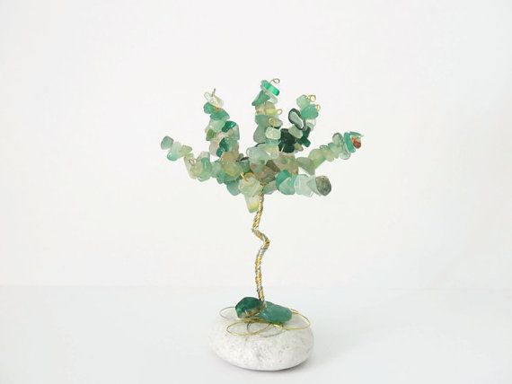 Green Agate wire tree