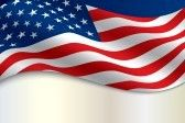 patriotic background : the flag of the United States of America with copy space