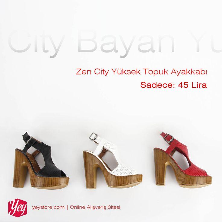 Zen City yüksek topuklu ayakkabılar özel fiyatla sadece 45 lira!  #yüksek #topuklu #ayakkabı #highheels #shoes #SeninTarzın http://www.yeystore.com/index.php?do=catalog/results&q=zen+city