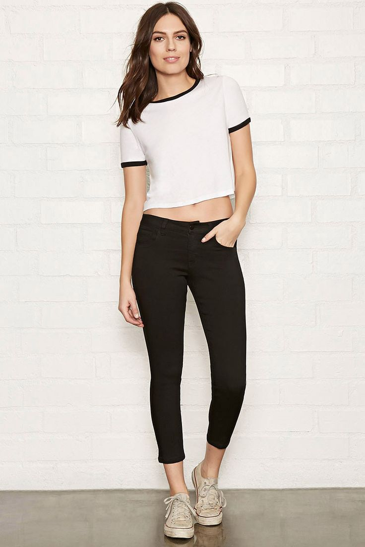 The Beverly – a pair of ankle skinny jeans featuring a low rise waist, five-pocket construction, and zip fly.
