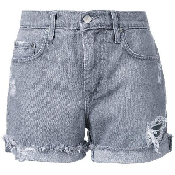 Nobody Denim Mondo Short Mineral ($97) ❤ liked on Polyvore featuring shorts, bottoms, clothing - shorts, grey, nobody denim, gray shorts, short shorts, cut-off shorts and grey shorts