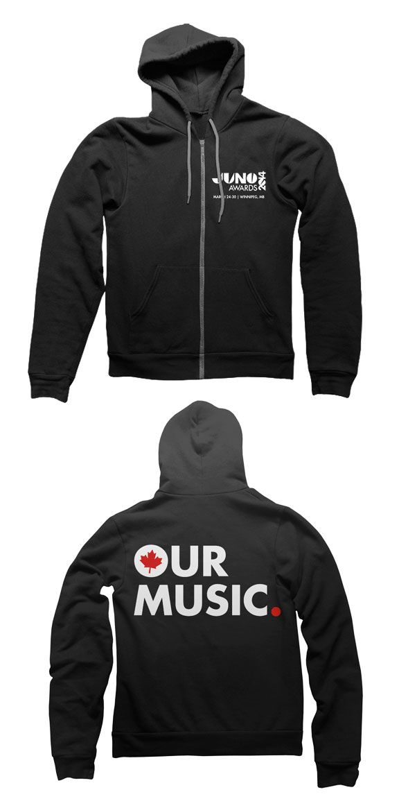 THE JUNO AWARDS Our Music Premium Zip Up Hoodie