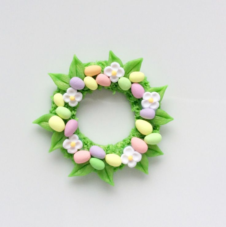 Miniature Easter egg wreath