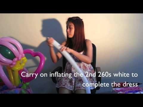 how to do: balloon princess hair - YouTube