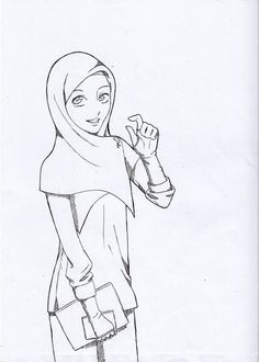 Image result for hijab drawing
