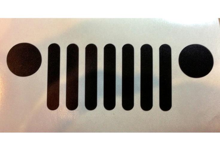 Jeep Grille  -  car decal vinyl sticker