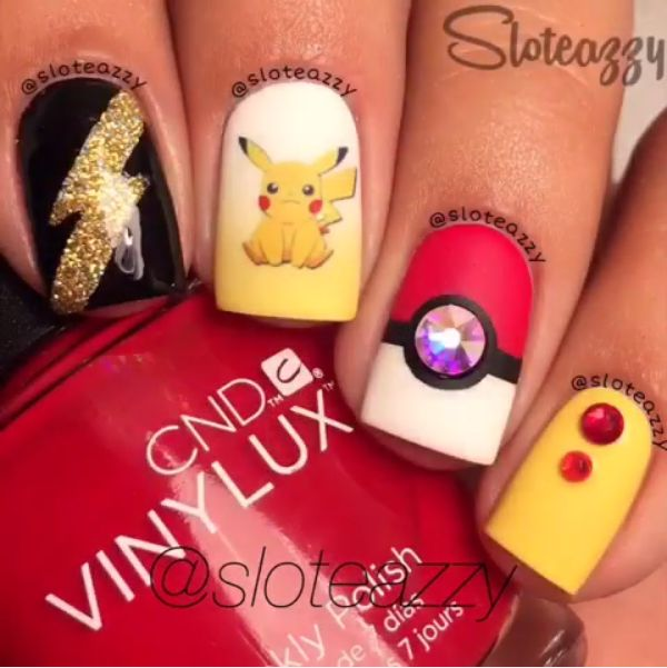 Here are 60 pokemon nail art ideas. - 112 Best Nail Art - Pokemon Images On Pinterest Nail Art Ideas