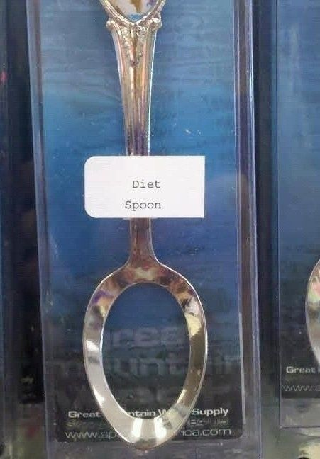 diet spoon-hope it works better than  forks for dieting