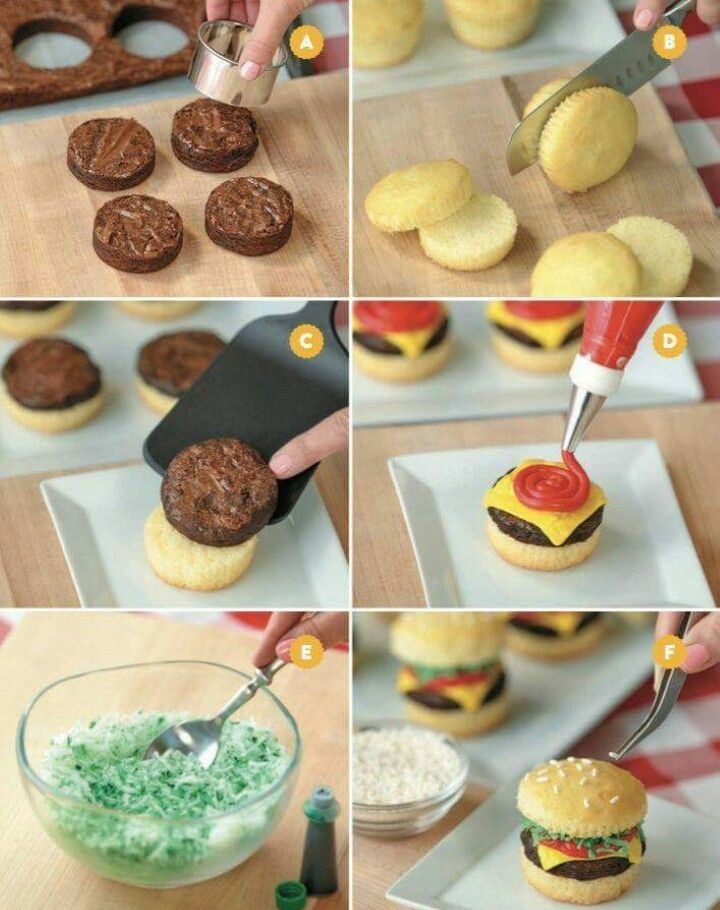 Little burgers made out of sweets!
