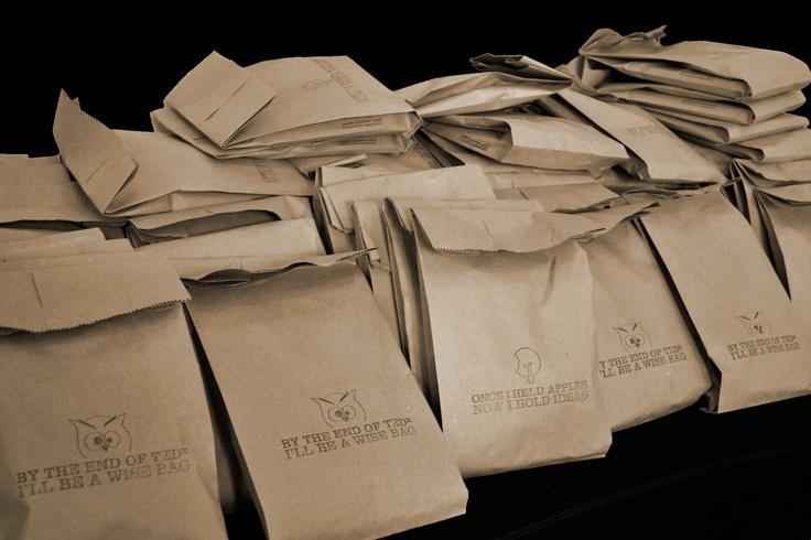 TEDxThessaloniki 2011 goodie bags ready to go!