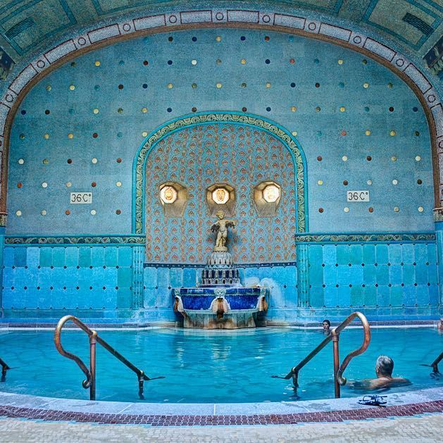 There are a whole load of indoor thermal spas in Budapest, beautifully decorated. . . . #travel #adventure #goexplore #holiday #travelguide #travelplans #luxury #spa #budapest #hungry #europe #travelling