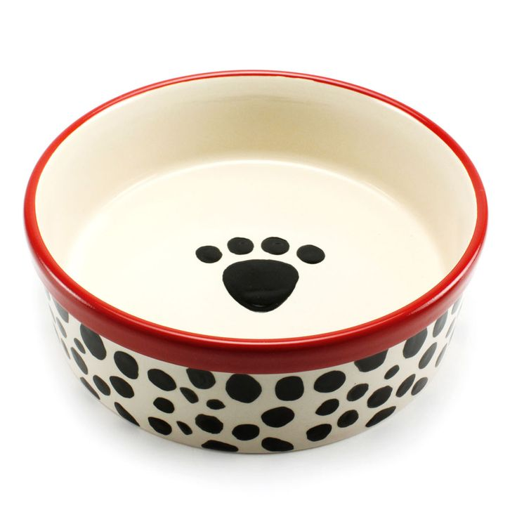 Precious Tails Heavy Ceramic Dog Bowl Cat Bowl Leopard