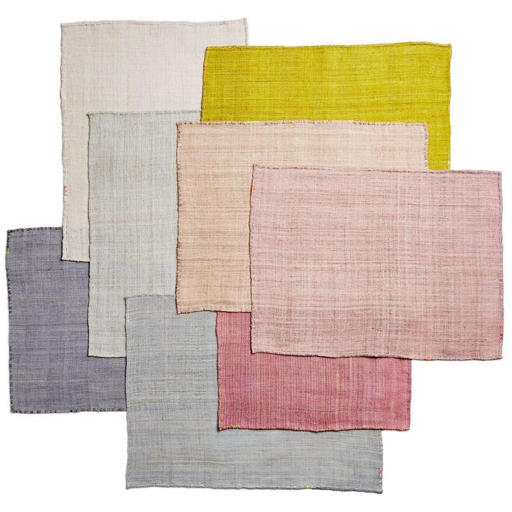 Exclusively at ABC, these placemats are crafted from raw sustainable hemp, an all-natural, eco-friendly fiber that sets a sustainable table. Light gray, light blue, white, mint, blush, ochre, nude and shell pink sold below. Available as a napkin and placemat.<br><br>This special collection of placemats is intimately created by ABC and an economically sustainable embroidery co-op in Vietnam. Each meticulously handmade creation is a testament to the beauty of slow design and the careful…
