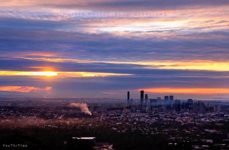 Yeu Thi Tran Sunrise at Mt Cootha, Brisbane, Australia. Image captured & ©Yeu Thi Tran. https://www.facebook.com/pages/Purple-Photography-Creations/148743085221883