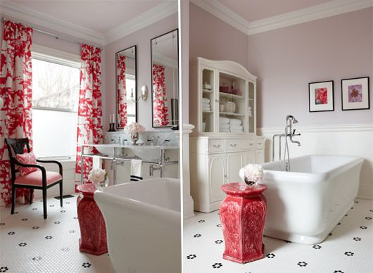 sarah richardson  pink master bathroom  sarah