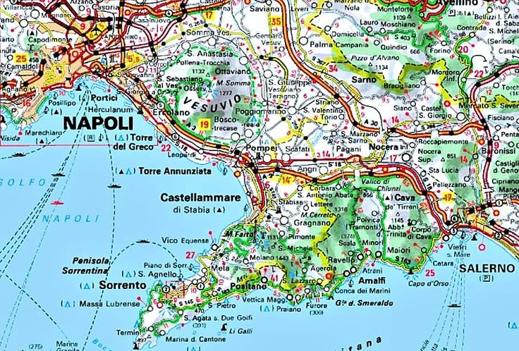 The Amalfi Coast is a popular tourist destination located in Southern Italy between the Sorrento peninsula and Salerno - Italy