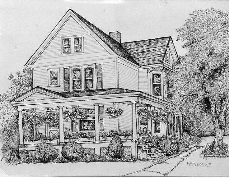 Line Art House : House drawings art yoga mas