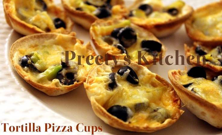 Tortilla Pizza Cups (Step By Step Recipe) – Recipes – Zimbio
