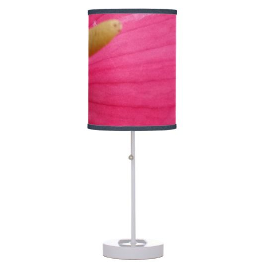 #zazzle #home #office #night #light #gift #giftidea #Pink #Flower #Table #Lamp