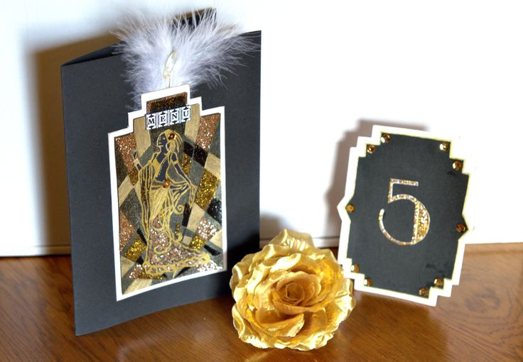 Handmade menu and table number