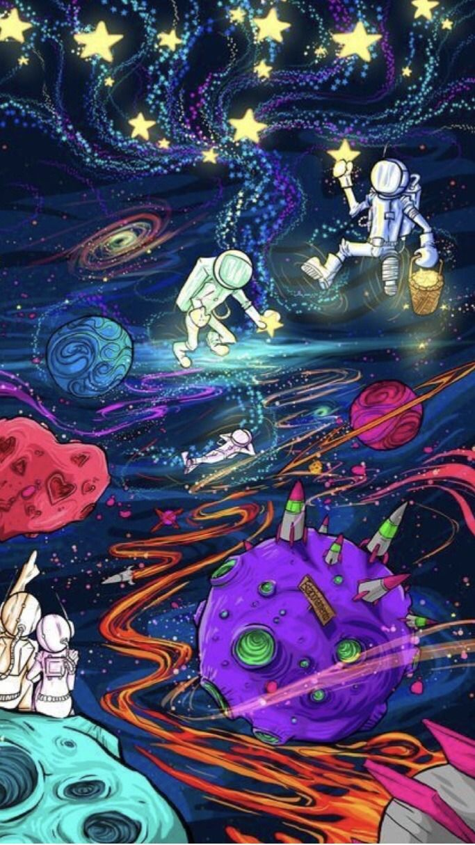 Trippy Alien Space Lockscreens Reblog If You Save Space Drawings Psychedelic Art Planet Drawing