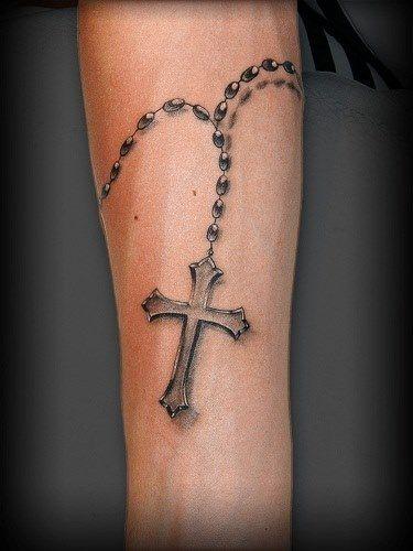 Terço em 3D no antebraço - Fotos de Tatuagens