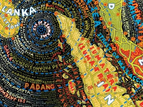 Paula Scher: Selected Work: The Map Series - DINCA