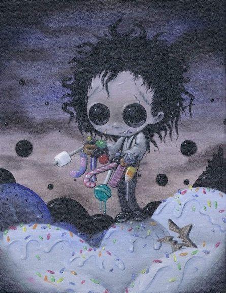 Lowbrow Sugar Fueled Edward Candyhands creepy by Sugarfueledart, $12.00