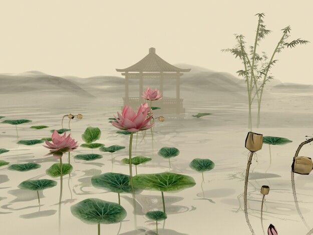 3d model of chinese painting
