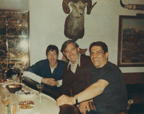 "Al Pacino, ""Patsy"" Eboli, and Al Lettieri at the Eboli family home in Fort Lee, New Jersey. Courtesy of Giovannina Bellino."