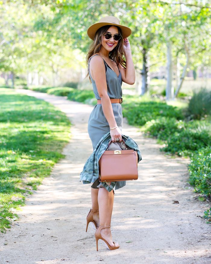 Olive Green Slip Dress // How to Style a Slip Dress