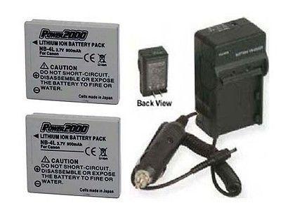 2 Batteries + Charger for Canon Digital IXUS 80, Canon IXUS 110, Canon IXUS 120, Canon IXUS 130 IS, Canon IXUS 80 IS, Canon IXUS 117, Canon IXUS 115 HS