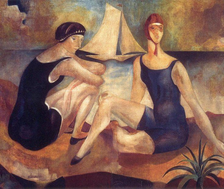 Almada Negreiros ~ The Bathers ~ (Portugal, 1925)