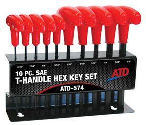 ATD 574 SAE T Handle Hex Key Set