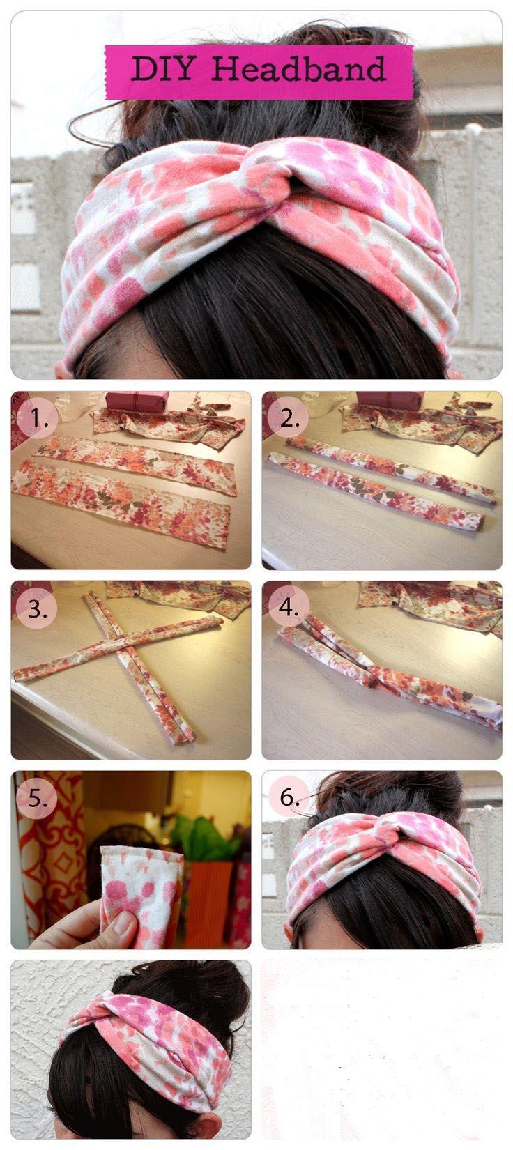 Las #Headband están de moda. Aprende a hacerlas tu misma con estos simples pasos, y luce genial con diferentes modelos #DIY