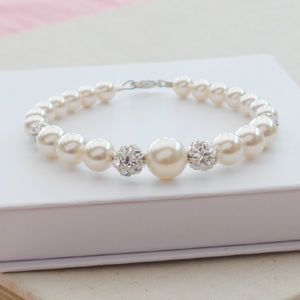 Ella Ivory Pearl Wedding Bracelet